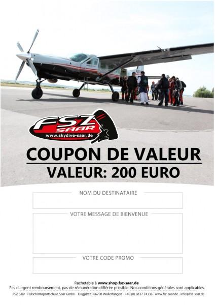 Coupon de Valeur 200€