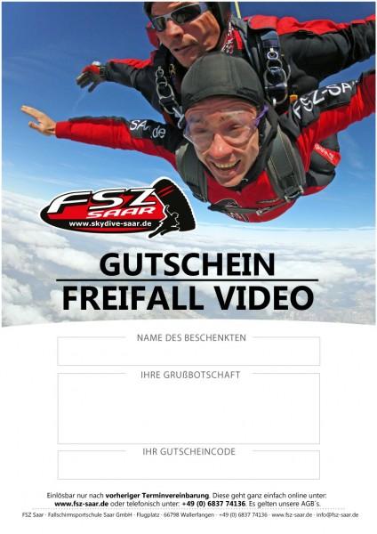 Gutschein Freifall Video