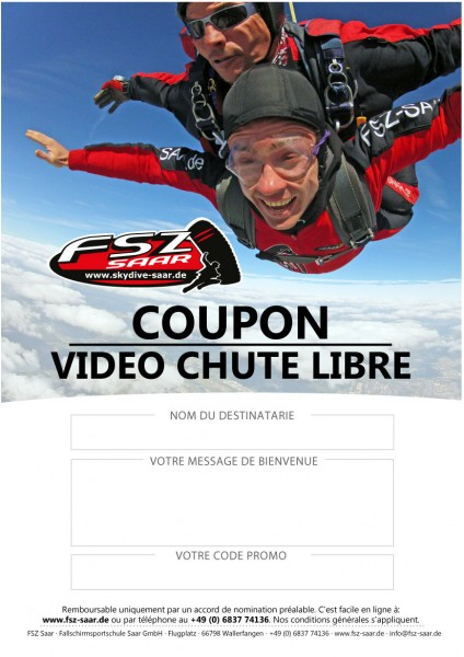 Coupon Video de Chute Libre