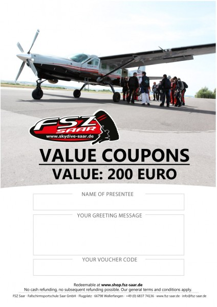 Value Coupon 200€