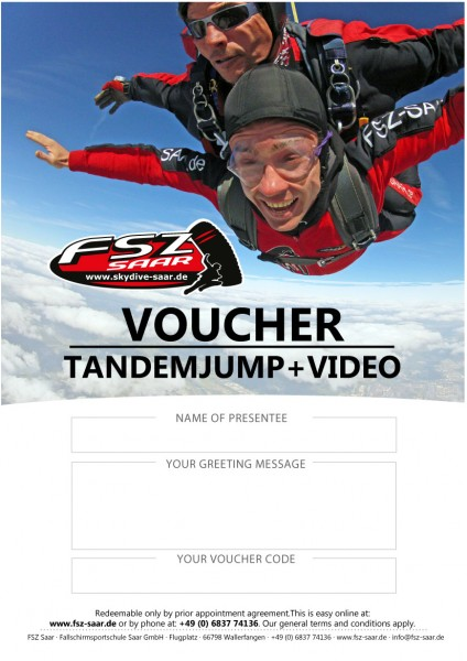 Voucher Tandemjump with Video